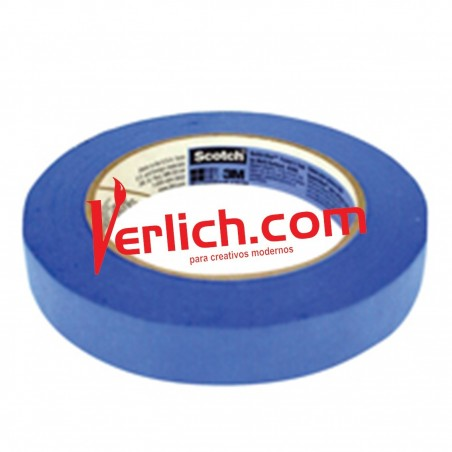 Maskint tape 18x50 Scotch Azul