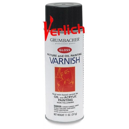 Barniz Grumbacher Spray (Aerorsol) Picture and Oil Varnish-Mate 380 ml