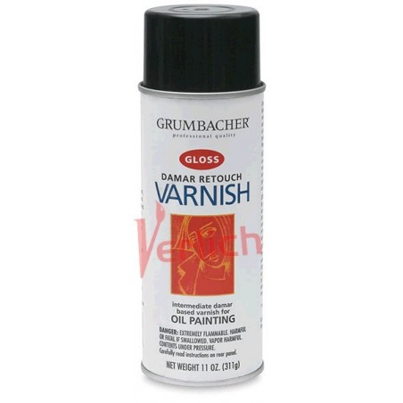 Barniz Grumbacher Spray (Aerorsol) Retoque Varnish Gloss 380 ml