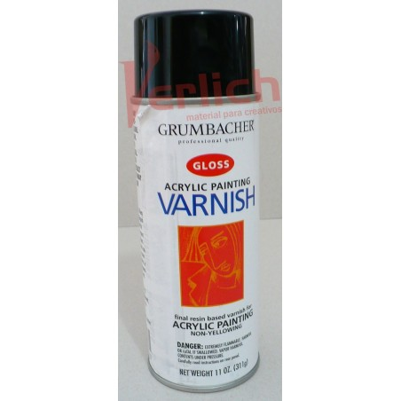 Barniz Grumbacher Spray (Aerorsol) Acrylic painting Varnish Gloss 380 ml