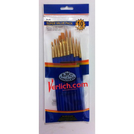 Pincel Royal con 10 Variados SVP-7