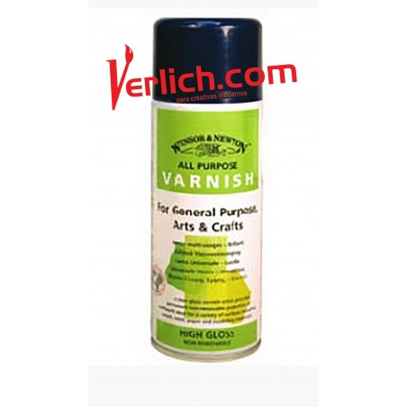 Barniz W&N alto Brillo 8988 permanente aerosol 400 ml