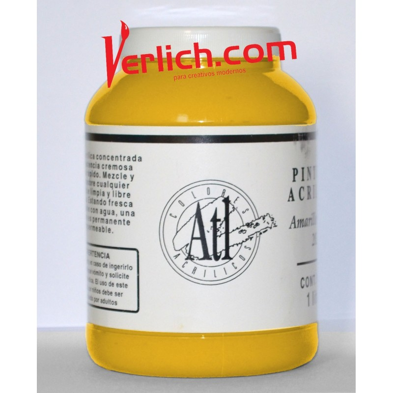 Acrilico ATL Amarillo Medio 202 1000ml.