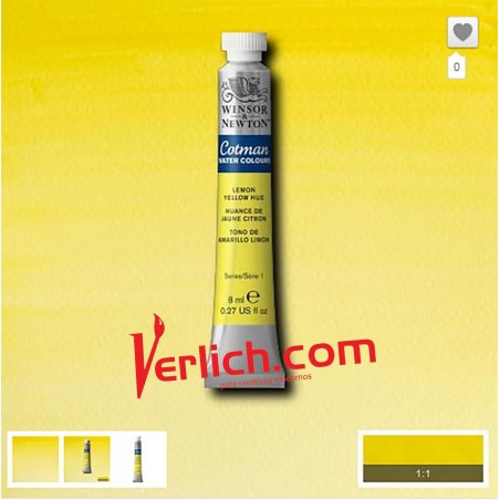 Acuarela Cotman Amarillo Limon (Lemon Yellow Hue) 346 W&N 8 ml.