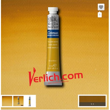Acuarela Cotman Amarillo Ocre (Yellow Ochre) 744 W&N 8 ml.
