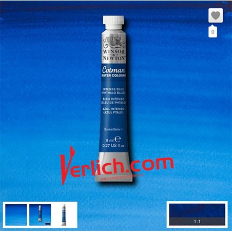 Acuarela Cotman Azul Intenso (Intense Blue) 327 W&N 8 ml.