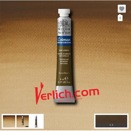 Acuarela Cotman Tierra de Sombra Natural Raw Umber 554 W&N 8 ml.