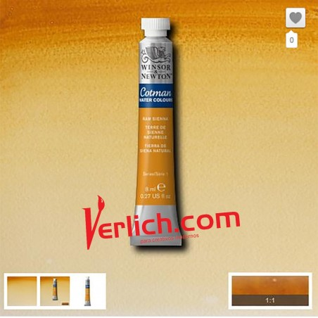 Acuarela Cotman Tierra de Siena Natural (Raw Sienna) 074 W&N 8 ml.