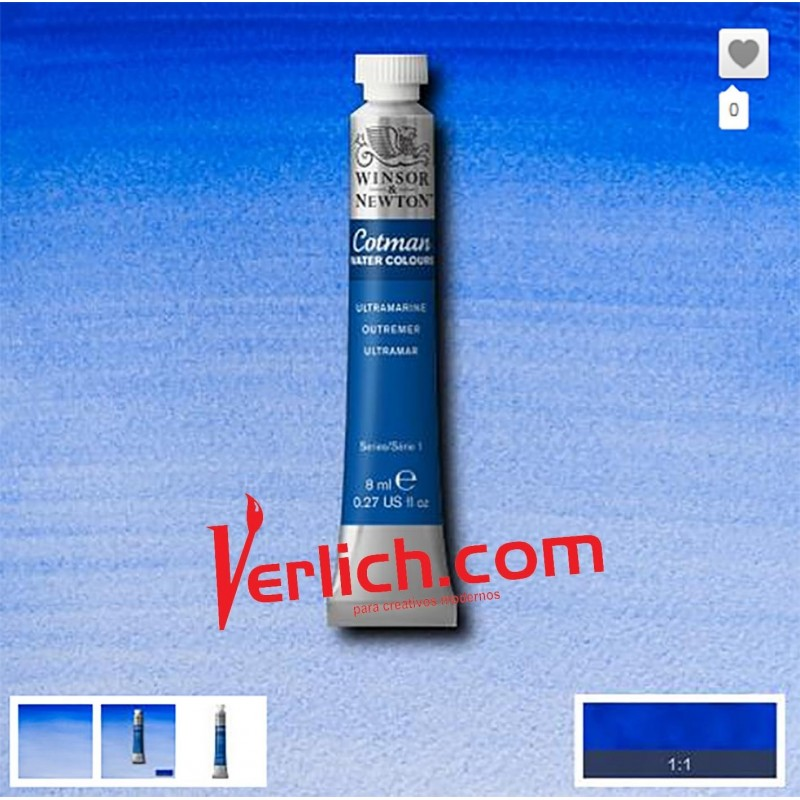 Acuarela Cotman Ultramarine 660 W&N 8 ml.